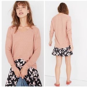 Madewell kimball pullover sweater blush pink